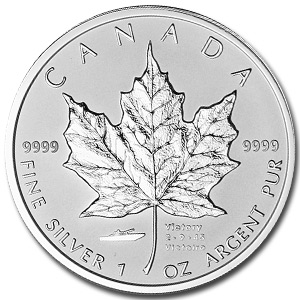 2005 1 oz Silver Canadian Maple Leaf (VJ Day Privy)